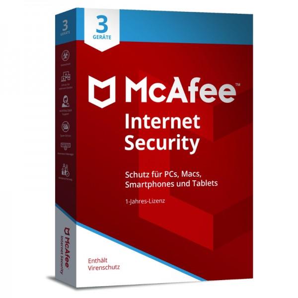McAfee Internet Security (2018) 3 Geräte 1-Jahr MINI-BOX (Code Only)