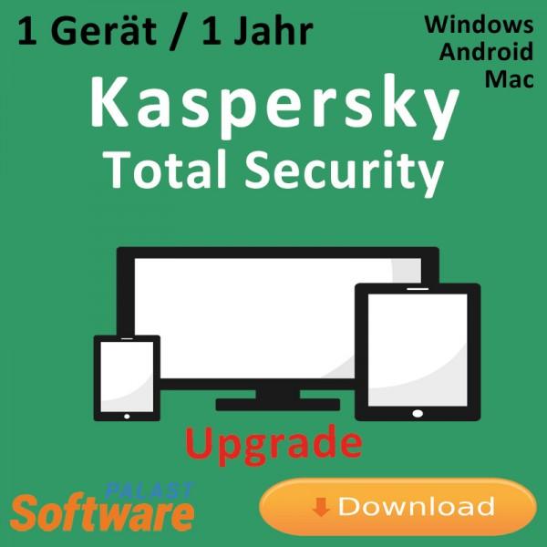 Kaspersky Total Security 2019 *1-Gerät / 1-Jahr* Update, Download