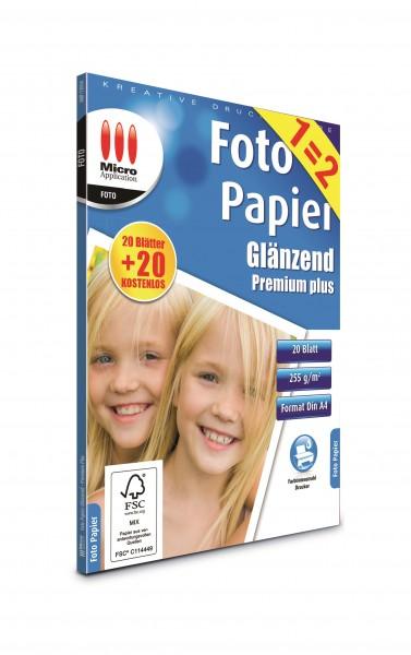 AvanQuest A4 Foto Papier Glänzend - Premium Plus