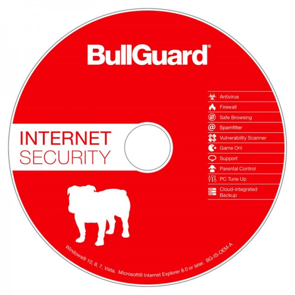 BullGuard Internet Security 1 PC, 1 Jahr OEM Vollversion CD