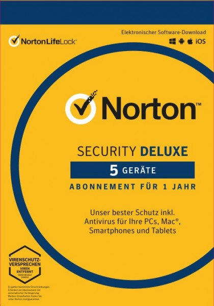 NORTON SECURITY 5 Geräte, 1 Jahr, KEY
