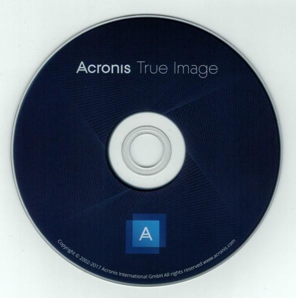 Acronis True Image 2017, Bootfähige DVD für Windows (OHNE KEY)