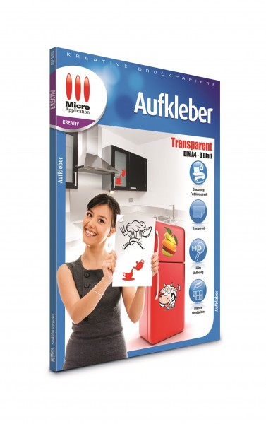 AvanQuest A4 Aufkleber - Transparent