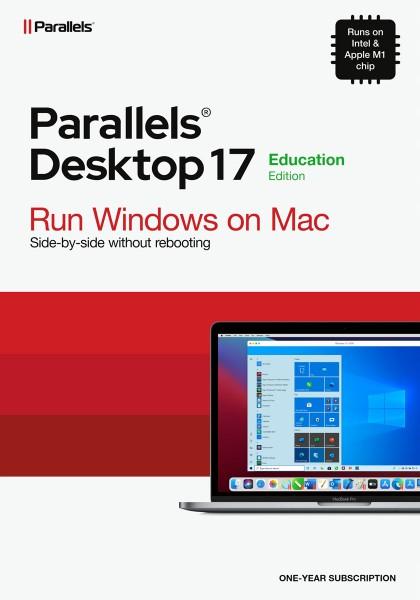 EDUCATION - Parallels Desktop 17 Standard für MAC 1-Jahr Academic/Schulversion Download #KEY