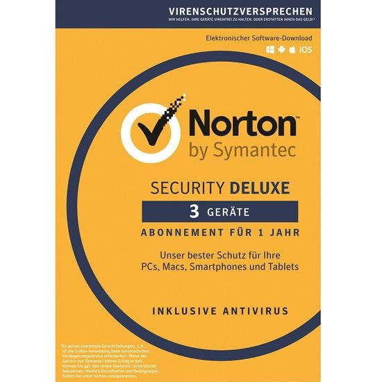Norton Security Deluxe 3.0 *3-Geräte / 1-Jahr* BOX (Card Case)