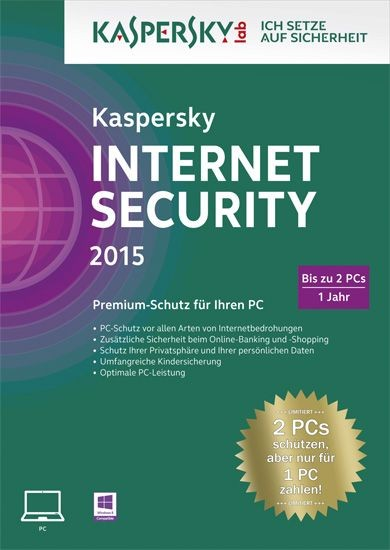 Kaspersky Internet Security, 2 User, 1 Jahr, ESD